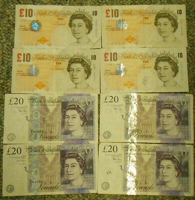 Lot of 120 British Pounds Paper Notes.