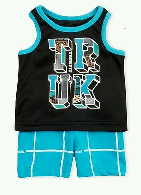 Boys Trukfit 2-PC Outfit Top Shirt & Shorts Set NWT Size 3-6 Months