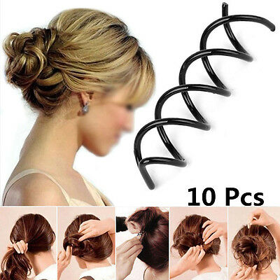 2~20pcs Black Spiral Spin Screw Bobby Pin Hair Clips Lady Hair Style Easy Tools