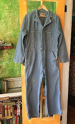 Vintage Work Wear Corp. Denim Jean Coveralls Made In USA Overalls Jumpsuit
