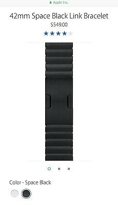 Apple Genuine - Space Black Link Bracelet for Apple Watch 42mm - MJ5K2ZM/A
