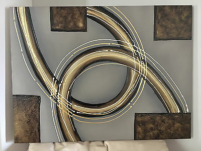 Modern Abstract Oil Painting on canvas (no framed)