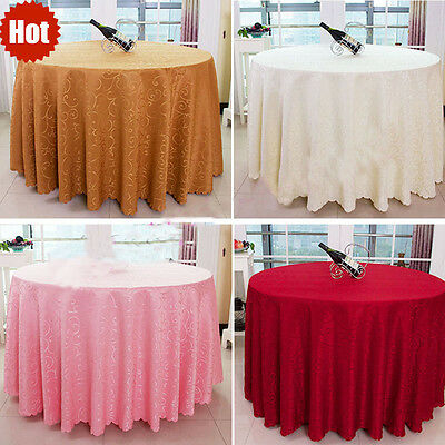 200cm Round Polyester Tablecloth Table Cover Cloth Economy Home Décor Living