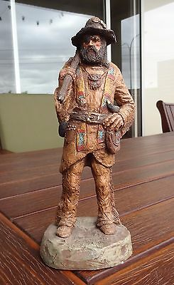 """American Sculpture / Staue by Michael Garmen """" The Trapper"""" Hand Painted"""