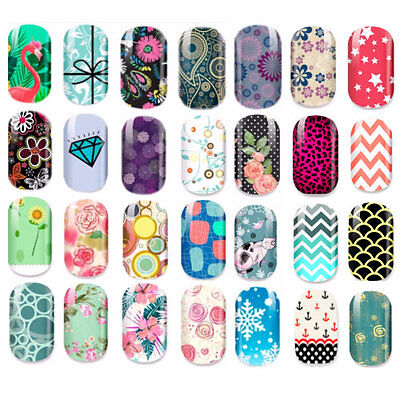 Nagelfolien Nail Wraps Aufkleber  Nagel Wrap Sticker Full cover 12stck NEU