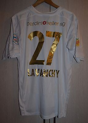 Fc Le Mont Switzerland Match Worn Issue Football Shirt Jersey Feel Free Lavanchy