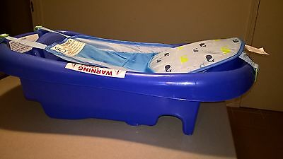 The First Years Infant To Toddler Blue Tub With Sling Newborn Baby Bath Tubs