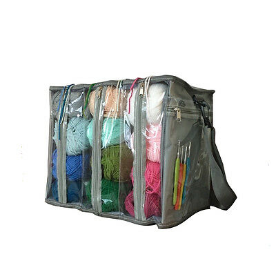 Yarn Organizer Bag Knitting & Crochet Tote Storage Lightweight Clear Pockets New