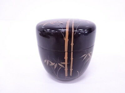 41879# Japanese Tea Ceremony / Natsume (Tea Caddy) / Lacquer / Makie / Bamboo