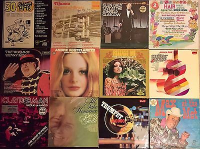 Vinyl Records Bulk Lot Various Artists 60's & 70's