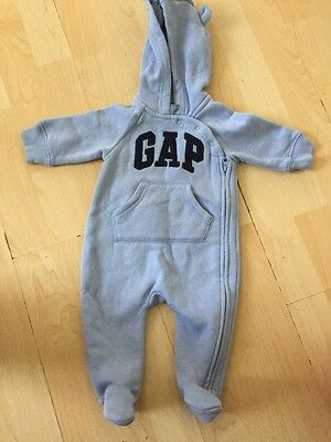 Baby Boys BABYGAP Blue All In One Suit 0-3 Months