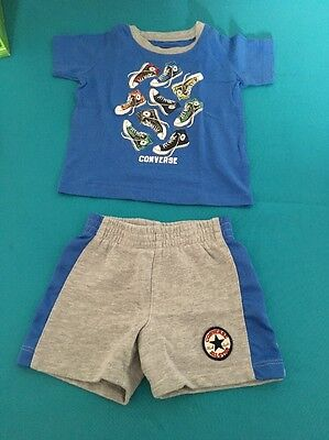 Baby Boy Converse Shorts And Tshirt 12 Months Excellent Condition