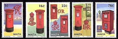 Malta 2004 Letter Boxes Complete Set SG1344 - 1348 Unmounted Mint