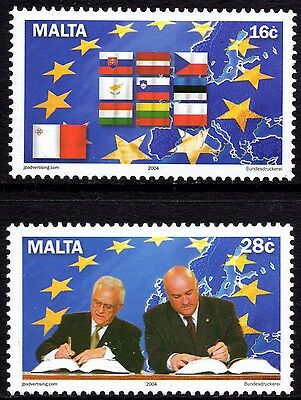 Malta 2004 Accession to EU Complete Set SG1371 - 72 Unmounted Mint