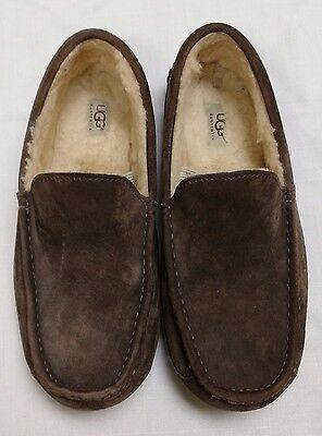 UGG Moccasin Slippers-Brown Suede-Size 10-Men's