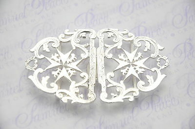 Fantastic Hilsborough Pattern Silver Plated Nurses Buckle Sheffield England L@@k
