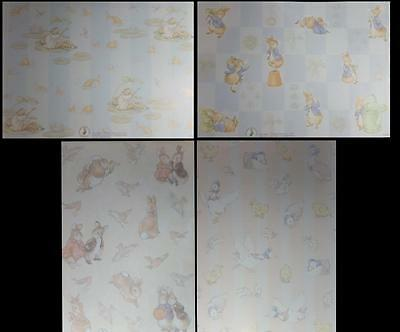 A4 Background Papers Beatrix Potter Peter Rabbit Tom Kitten Jermina Jeremy NEW