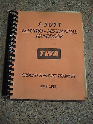 TWA  L-1011 Elerctro - Mechanical Ground Support Manual ~ Lockheed