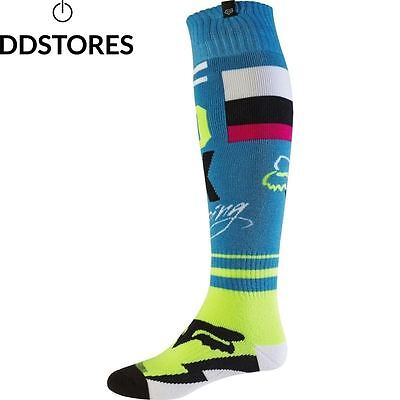 Chaussettes Motocross Fox 2017 Fri Rohr Thin Teal