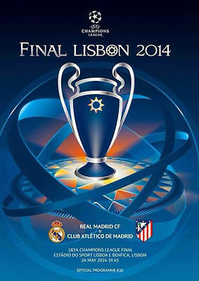 2014 UEFA Champions League Final Official PROGRAMME Football Real Madrid Program