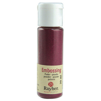 Embossing-Puder, bordeaux, deckend (24,95 EUR pro 100 ml)