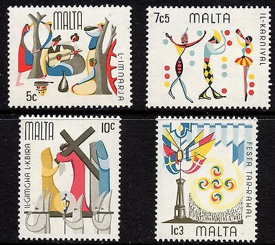 Malta 1976 Maltese Folklore  Complete Set SG 555 - 558 Unmounted Mint