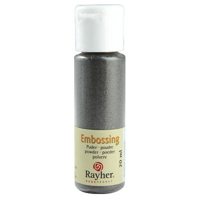 Embossing-Puder, silber, deckend (24,95 EUR pro 100 ml)