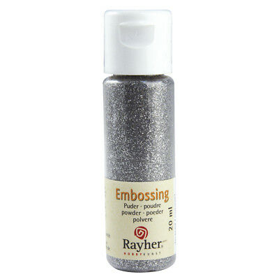 Embossing-Puder, brillant silber, deckend (24,95 EUR pro 100 ml)