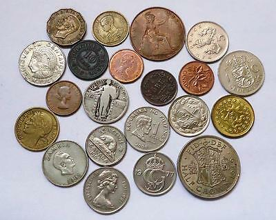 World Coins With Silver Lot Of 20  *dates: 1870 To Present*