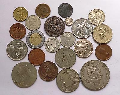 World Coins With Silver Lot Of 22  *dates: 1881 To Present*
