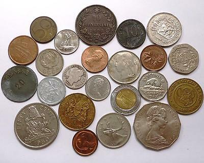 World Coins With Silver Lot Of 23  *dates: 1895  To Present*