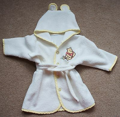Adorable Disney Winne the Pooh Dressing Gown/Robe Age 6-9 Months Mothercare
