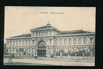 FRENCH INDOCHINA SAIGON POST OFFICE PPC c1920