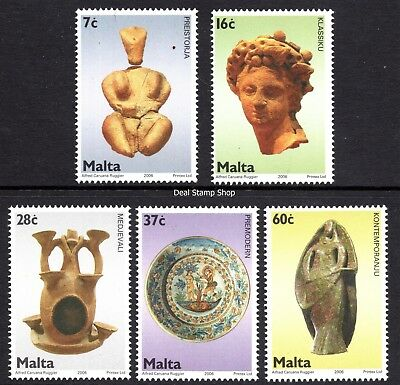 2006 Malta Ceramics in Collections Complete Set SG 1456 - 1460 Unmounted Mint