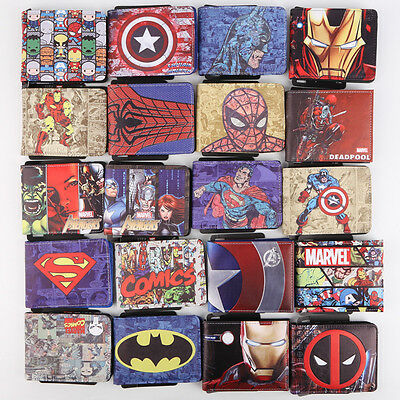 DC Marvel Comics Deadpool Hulk Captain America Iron Man Color Wallet Short Purse
