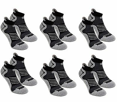 BRUBAKER 6 Pairs Cushion Low Cut Sneaker Socks for Running