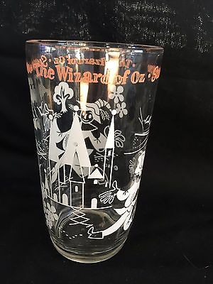 "Vintage Wizard Of Oz Scarecrow Peanut Butter Glass Tumbler 5"" Character"