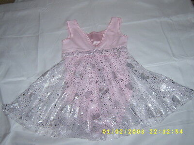 Future Stars Girls Dance Outfit Size Small Pink With Silver