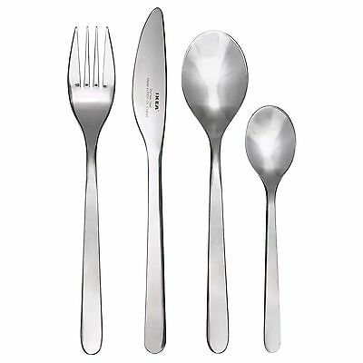New Ikea Fornuft 24-Piece Cutlery Set Stainless Steel, Fork, Knife, & Spoons