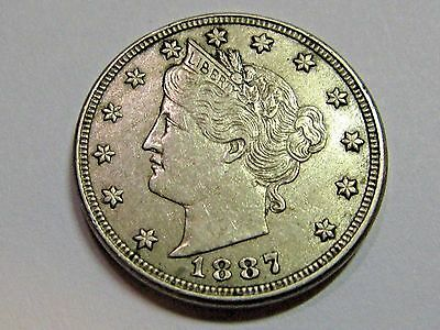 1887 Liberty V Nickel Great Details High Grade..   Free Shipping