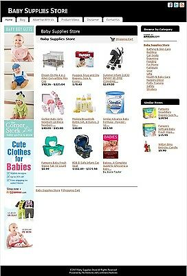 Baby Supplies Store -Established Affiliate Website Business