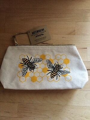 Noteworthy Paper Press Bee Screen Printed Canvas Pouch