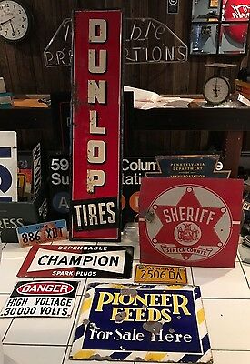 RARE 1960'S DEPENDABLE CHAMPION SPARK PLUG SIGN 1A made in the USA