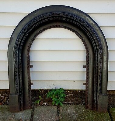 19thC Antique #11 Arched Salvaged Cast Iron Suround