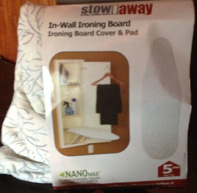 Household Essentials Stow Away Pad & Cover for In-Wall Ironing Board Willow