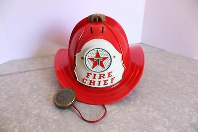 1960s Texaco Fire Chief Hat For Parts or Repair