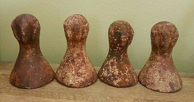 ANTIQUE Victorian Claw Feet Clawfoot Bath Tub Feet Decor Steampunk Cast Iron