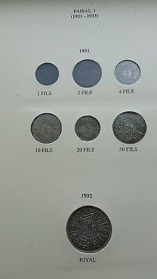 iraq kingdom coins 1931-1955 40 coins missing 4 only many silver and key dates