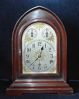 Antique Mahogany Westminster Chime Bracket Clock by Mauthe Working