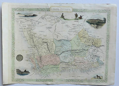 1851 John Tallis map Cape Colony -  South Africa